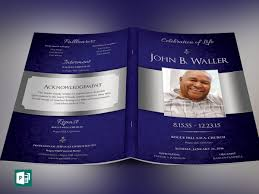 Template For A Funeral Program Dignity Funeral Program Publisher Template On Behance