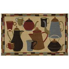 home coffee pot shuffle kitchen rug