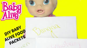 how to make baby alive food packets with flour by baby alive
