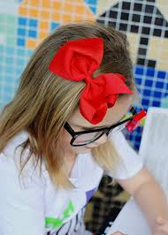 cheap hair bows solid and printed basic hair bows
