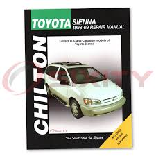 toyota sienna van chilton repair manual xle limited ce shop