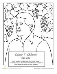 the most elegant and lovely cesar chavez coloring page regarding