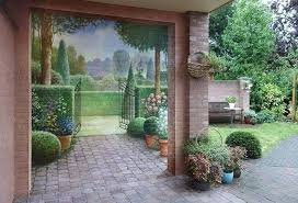 Garden Wall Paint Ideas Amazing Painting Ideas For Brick Walls Creating Optical Illusions