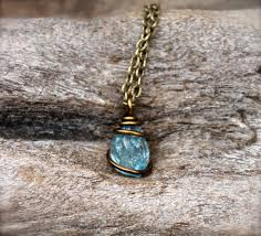 zircon necklace images Petite zircon necklace raw stone from mermaid tears gypsy jpg