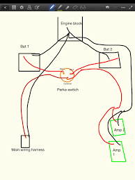 amp and battery wiring diagram planetnautique forums