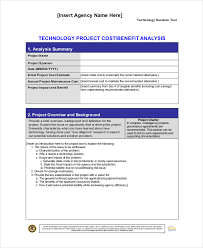 cost benefit analysis template 7 free word pdf documents
