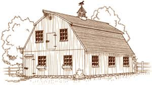 Gambrel Roof Barn Plans Pg 07 Gambrel Barns 26 U0027 Country Carpenters