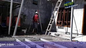 konstruksi canopy baja ringan youtube