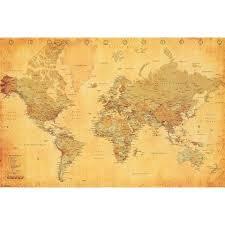 Decorative World Map Best 25 Vintage World Maps Ideas On Pinterest Print Map