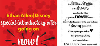 limited edition ethan allen disney collection launches search