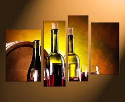 4 piece canvas art prints wine bottles canvas photography red