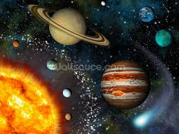 3d solar system wallpaper wall mural wallsauce usa 3d solar system wall mural photo wallpaper