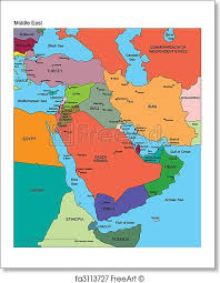 middle east map gulf of oman free print of middle east with editable countries names