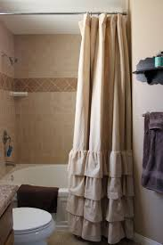 Shower Curtain Design Ideas Bathroom Enchanting Ruffle Shower Curtain For Bathroom Decoration