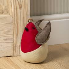 christmas robin door stop by the christmas home
