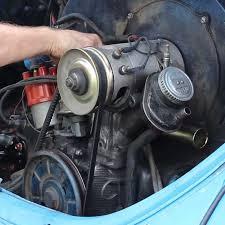 vw center mount fan shroud carburetor intake manifold installation vw parts jbugs com