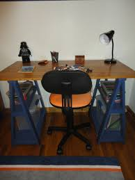Diy Sawhorse Desk by Furniture Sawhorse Desk And Toy Shelf With Swivel Chair And