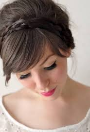 for long thick hair headband braid updo hairstyle ideas