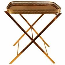 Brass Tray Table Metal Folding Tray Table Foter
