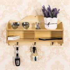 Bathroom Wall Shelves Wood by Hecare New Home Bathroom Wall Shelf Key Hook Wooden Phone Storage