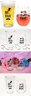 novelty wine glasses gifts wedding gifts mr right and mrs always right novelty wine