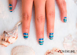 hello spring show off this mix and match beach inspired nail