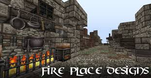 minecraft tutorial fireplace furnace designs youtube