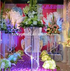 Crystal Wedding Centerpieces Wholesale by 2017 Fashion Design Crystal Wedding Flower Stand Centerpieces