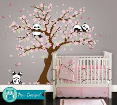 Wall Nursery Decals Baby Nursery Decor Flower Blossom Baby Nursery Decals Pink Color