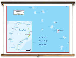 map of tuvalu tuvalu physical educational wall map from academia maps