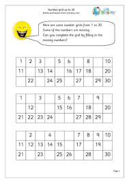 ideas of number recognition worksheets 1 30 for your free