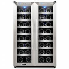Stainless Steel Wc Whynter Wc 321dd Stainless Steel Wine Cooler 32 Bottle