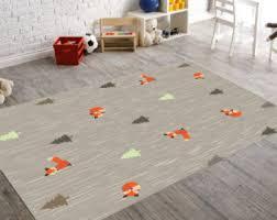 kids rugs fox rug woodland nursery woodland rug kids rug nursery