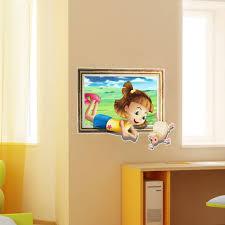 3d baby kids room cartoon little sheep game wall decals