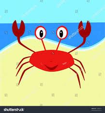 vector illustration cartoon crab on beach stock vector 14383516