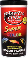 omega one super color flakes tropical fish food 2 2 oz jar