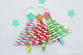 decorative paper straw tree ornaments