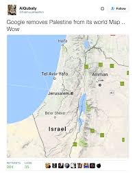 Judea Map Palestine Missing From Google Maps Twitter Responds With