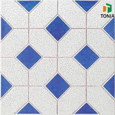 artificial ceramic tile floors blue mix spot rustic tile