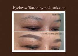 Eyebrow Tattoo Before And After Eyebrow Tattoo Before After And Healed Photos 2 Youtube