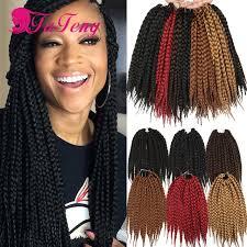 box braids hairstyle human hair or synthtic crochet box braids 12 roots pack synthetic crochet braids box