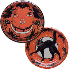 vintage halloween paper plates sourpuss clothing