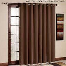 com rose home fashion rhf thermal insulated blackout patio door curtain panel sliding door curtains wide curtains 100w by 84l inches chocolate