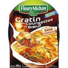 plat cuisiné fleury michon fleury michon gratin de courgettes au boeuf 300 g