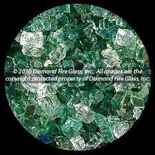 Fire Pit Glass by Emerald Bay Premixed Diamond Fire Pit Glass 1 Lb Crystal Package