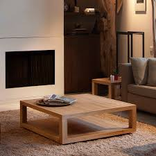 small living room end tables custom diy low square wood oak coffee table with tray and