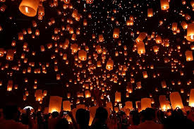 lanterns new year should acquaintance be forgot and never thought upon