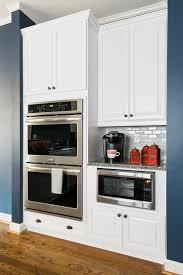 kitchen room ikea refrigerator panel microwave wall shelf home