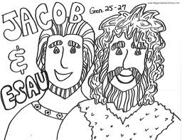 jacob and esau coloring pages coloring pages