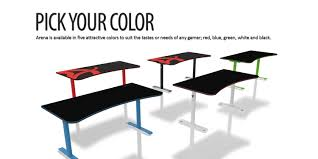 Gaming Desk Chairs by Arena Gaming Desk U2013 White Arozzi